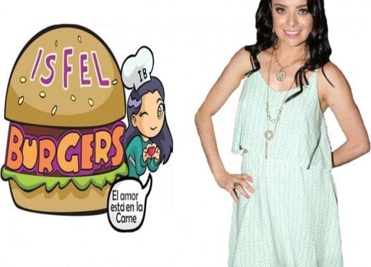 Violeta Isfel empieza a vender hamburguesas a domicilio.